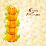 Happy Halloween greeting card Royalty Free Stock Image