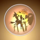Happy halloween greeting card.paper art style. Royalty Free Stock Image
