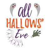 Happy Halloween Greeting Card. Halloween Poster and Banner on Wh Royalty Free Stock Photos