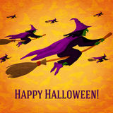 Happy halloween greeting card with horde of Stock Photos
