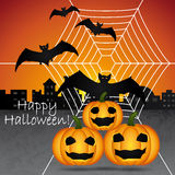 Happy Halloween greeting card. Stock Images