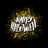 Happy Halloween greeting card with lettering Stock Photography