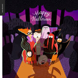 Happy Halloween greeting card Royalty Free Stock Photography