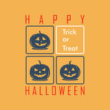 Happy halloween greeting card Royalty Free Stock Photos