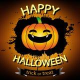 Happy halloween greeting card. Happy halloween pumpkin orange greeting card Stock Photography