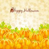 Happy Halloween greeting card with pumpkins Royalty Free Stock Image