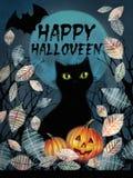 Happy Halloween greeting card. Stock Photos