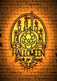 Happy Halloween Greeting Card Template Royalty Free Stock Photography