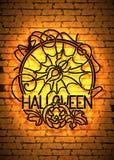 Happy Halloween Greeting Card Template Stock Photos