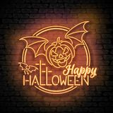 Happy Halloween Greeting Card Template Stock Photography