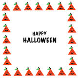 Happy Halloween greeting card vector Stock Photography