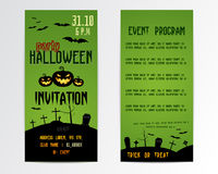 Happy Halloween Greeting Cards, Flyer. Vector Stock Images