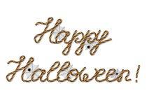 Happy halloween greeting Stock Images