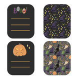 Happy Halloween greetings and invitation cards Stock Photography