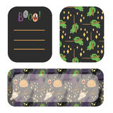 Happy Halloween greetings and invitation cards Royalty Free Stock Photos
