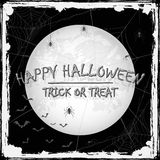 Happy Halloween grunge background with spiders and bats Stock Photography