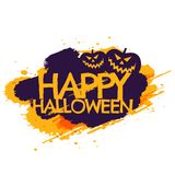 Happy halloween grungy poster Royalty Free Stock Photo