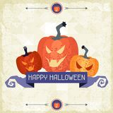 Happy Halloween grungy retro background Royalty Free Stock Image