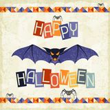 Happy Halloween grungy retro background Stock Images