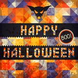 Happy Halloween grungy retro background.  Royalty Free Stock Images