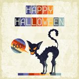Happy Halloween grungy retro background Royalty Free Stock Images