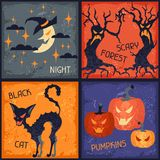 Happy Halloween grungy retro backgrounds Royalty Free Stock Images