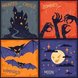 Happy Halloween grungy retro backgrounds Royalty Free Stock Image