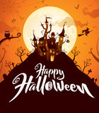 Happy Halloween. Halloween castle. Royalty Free Stock Image