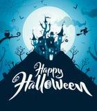 Happy Halloween. Halloween castle. Royalty Free Stock Photography