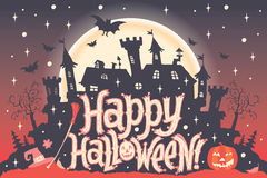 Happy Halloween. Halloween poster, card or background for Halloween party invitation Stock Photography