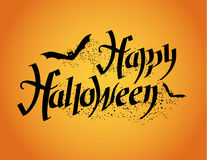 Happy Halloween. Halloween poster with hand lettering Stock Images