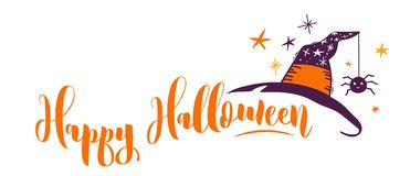 Happy Halloween hand drawn banner Royalty Free Stock Image