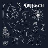 Happy Halloween hand drawn illustrations Stock Image