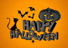 Happy Halloween hand lettering Stock Photos