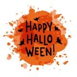 Happy Halloween - handdrawn typography lettering stock illustration