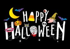 Happy Halloween stock illustration