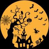 Happy halloween. Illustrator  wallpaper or banner Stock Image
