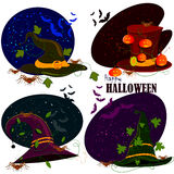 Happy Halloween hat scary background Stock Image
