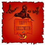 Happy Halloween haunted castle vector Royalty Free Stock Photography