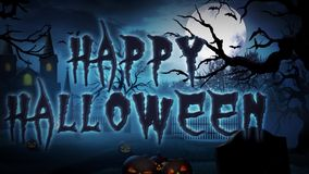 Happy Halloween Haunted Forest stock video footage