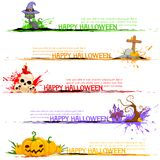 Happy Halloween Header. Illustration of Happy Halloween header collection Royalty Free Stock Image
