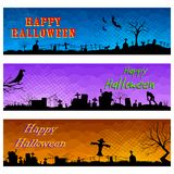 Happy Halloween Header Stock Photos