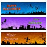 Happy Halloween Header. Illustration of Happy Halloween header collection Stock Photos