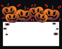 Happy halloween header or invitation card Royalty Free Stock Photo