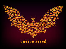 Happy Halloween Holiday background bat out evil Stock Photo