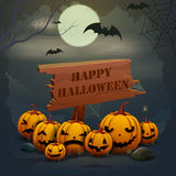 Happy Halloween holiday background Stock Images