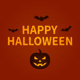 Happy Halloween holiday card display design Royalty Free Stock Photography