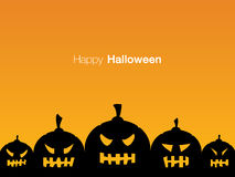 Happy Halloween holiday card display design Royalty Free Stock Photo