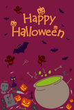 Happy Halloween holiday celebration background Stock Photos