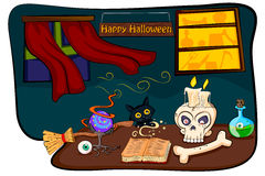 Happy Halloween holiday celebration background. In vector Royalty Free Stock Images